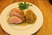 Smoked Pork Loin with Smoky Applesauce