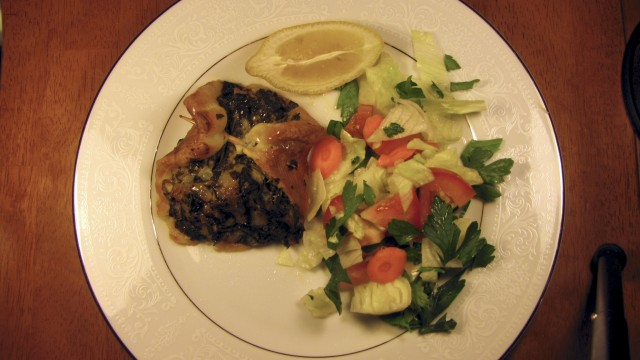 Smoked Stuffed Flounder